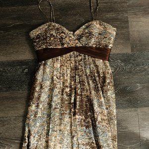 Silk Spaghetti Strap mini Dress